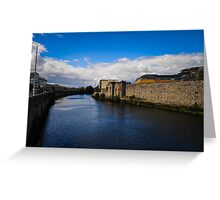 River in Dublin, Ireland Greeting Card