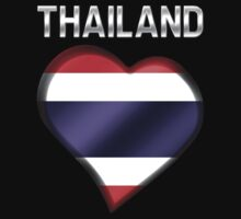 Thailand - Thai Flag Heart & Text - Metallic by graphix