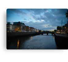 Night Life Dublin, Ireland Canvas Print