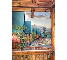 Log Cabins in Waiting Photographic Print