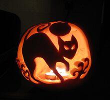 Spooky cat by Yorkspalette