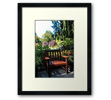Single Person Bench Framed Print