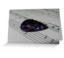 Guitar Pick & Music Greeting Card