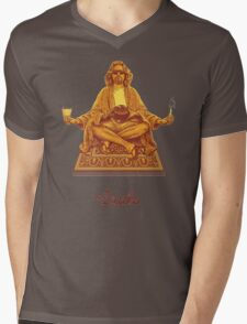 The Dude Budha The Big Lebowski Mens V-Neck T-Shirt
