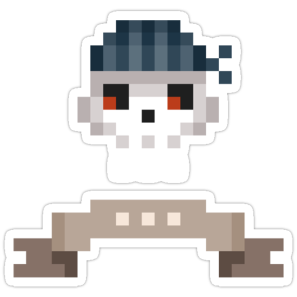 Pixel Pirate Skull by drawsgood