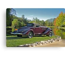 1936 Auburn 'Boat Tail' Speedster II Canvas Print