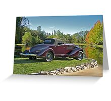 1936 Auburn 'Boat Tail' Speedster II Greeting Card