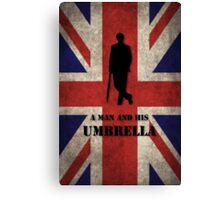 Mycroft - A man and his umbrella  Canvas Print
