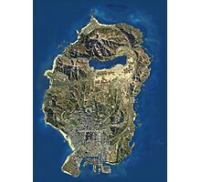 Grand Theft Auto V Map Photographic Print