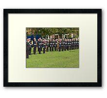 Royal marines freedom of Littlehampton Framed Print