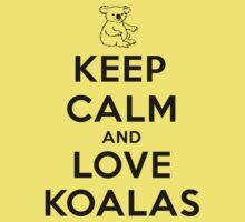 Keep calm and love koalas Kids Clothes