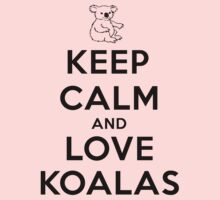 Keep calm and love koalas One Piece - Long Sleeve