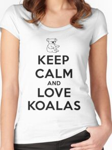 Keep calm and love koalas Women's Fitted Scoop T-Shirt