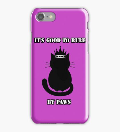 """It's good to rule by paws"" Jack iPhone Case/Skin"