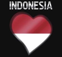 Indonesia - Indonesian Flag Heart & Text - Metallic by graphix