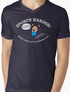 Sports Harder Mens V-Neck T-Shirt