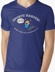 Sports Harder Mens V-Neck T-Shirt