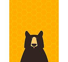 Black Bear Honeycomb Photographic Print