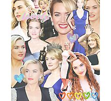 kate winslet collage Photographic Print