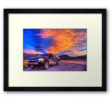 Silverado Sunset, outside Salida, Colorado Framed Print