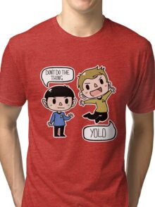 Star Trek - Spock and Kirk Tri-blend T-Shirt