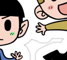 Star Trek - Spock and Kirk Sticker