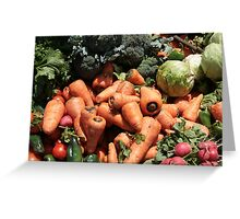 Lettuce Peppers Radishes and Broccoli Greeting Card