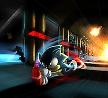 Escape the Death Egg Sonic by camdentamura