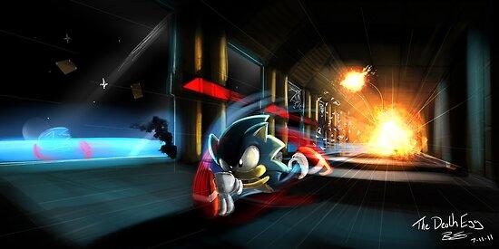 Escape the Death Egg Sonic by camdentamura