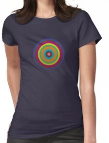CIRCLE blue green yellow orange red violet  Womens Fitted T-Shirt
