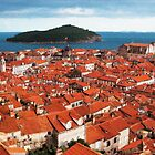 Red Rooftops, Croatia by GarfunkelArt