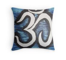 OM - Is a vibration Throw Pillow