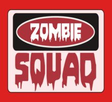 ZOMBIE SQUAD, FUNNY DANGER STYLE FAKE SAFETY SIGN Kids Clothes