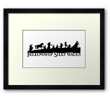 The Fellowship of Silly Walks Framed Print