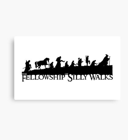 The Fellowship of Silly Walks Canvas Print