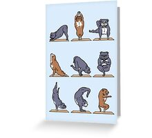 Bull Terrier Yoga Greeting Card
