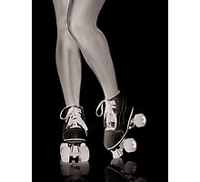 Girl legs in roller skates artistic concept art photo print Photographic Print