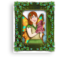 A Fairy and Her Dragon Canvas Print