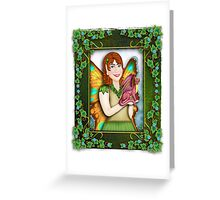 A Fairy and Her Dragon Greeting Card