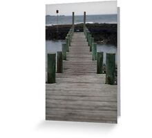 to the jetty Greeting Card