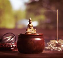 Meditating Buddha Statue art photo print by ArtNudePhotos