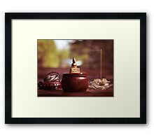 Meditating Buddha Statue art photo print Framed Print
