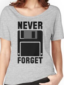 Floppy Disk Never Forget Women's Relaxed Fit T-Shirt