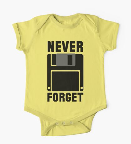 Floppy Disk Never Forget One Piece - Short Sleeve