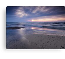 Beautiful peaceful sunset on lake Huron art photo print Canvas Print