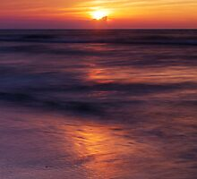 Sun setting down over Huron lake art photo print by ArtNudePhotos