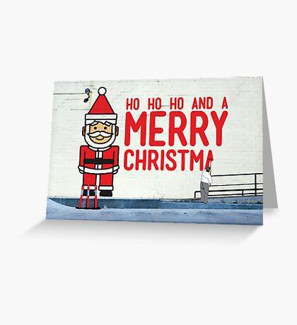 Virtual Christmas Graffiti, Italian Club, Hobart Tasmania Greeting Card