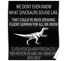 German Dinosaurs Poster Poster