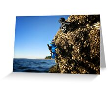 Climbing on the rocks Greeting Card