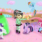 Vanellope and Ponies by tokyoterror